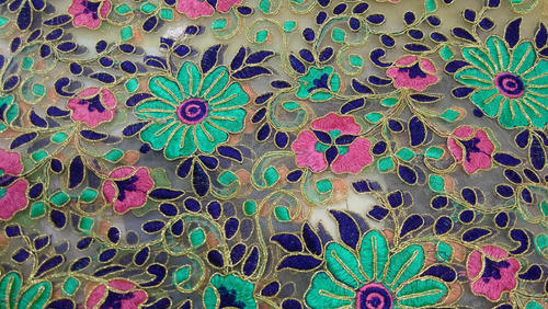 Embroidery Fabrics Gamthi Embroidery Work Manufacturer From Surat