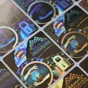 Pressure Sensitive Hologram Labels/Stickers
