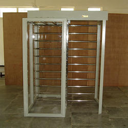 Dual Lane Clear Style Turnstiles