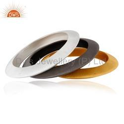 925 Silver Handmade Three Bangle Set