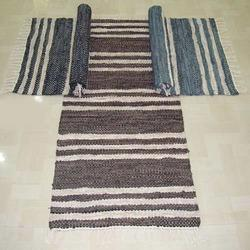 Striped Leather Rugs