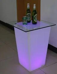Colored LED Bar Table