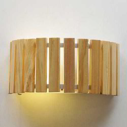 Rockford Wood Drum 2 Way Wall Light