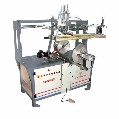 Semi Auto Round Buckets Screen Printing Machines
