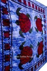 India Tapestry Animal Skin Pattern Printed Cotton Bedspread