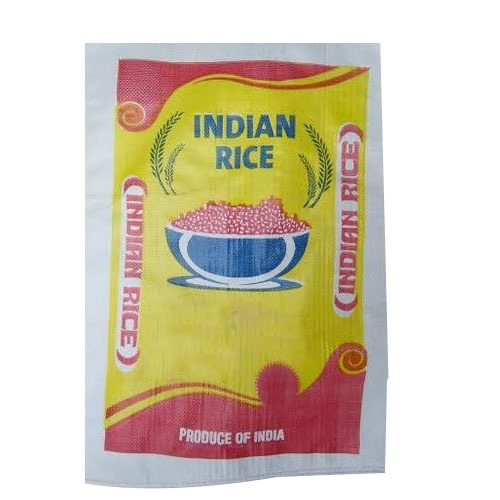Printed Rice Packaging Woven Bag