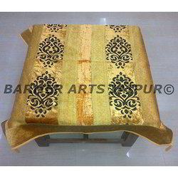 Designer Table Cover Brasso Velvet Border Patti