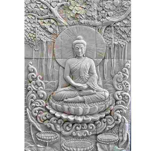 Crafted natural stone stone sculpture hand crafted for Buddha mural art
