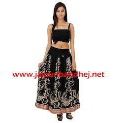 Rayon Gold Print Skirts