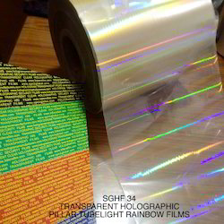 HRI ZNS Coated Holographic Polyester Films