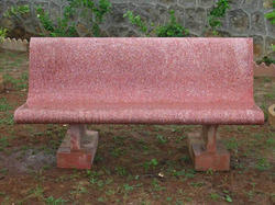 cement park benches