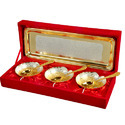 Antique Gold and Silver Plated Bowl Set