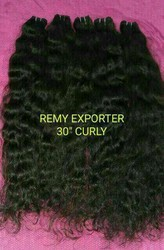 Natural Curly 100% Human Hair From Temple