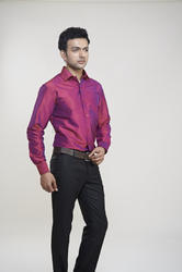 Dark Pink Silk Shirts