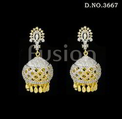 American Diamond Jhumka Earring