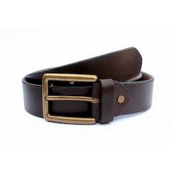 Mens Casual Brown Leather Belt