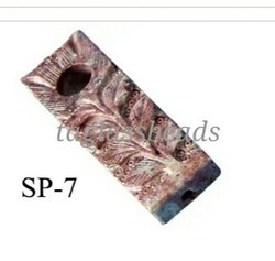 Leaf Carved Soap Stone Smoking Pipe