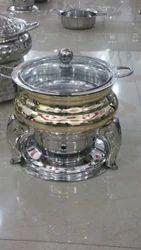 Brass Handi with Glass lid