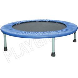 playing trampoline