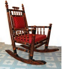 rocking chair is use for relax on this chair and feel good this