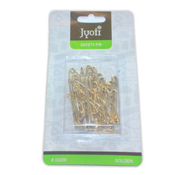 Jyoti Safety Pin - Golden - Assorted