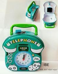 Telephone With Clock Money Bank