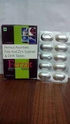 Ferrous Ascorbate Folic Acid Methylcobalamin Zinc DHA