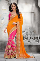Embroidered Ethnic Georgette Saree