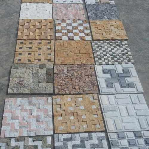 Elevation Stone Cladding : Natural stone mosaic tiles and