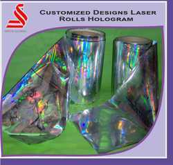 Customized Design 3D Holographic Laser Rolls