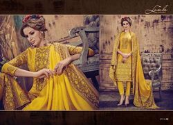 Raw Silk With Light Weight Raw Silk Dupatta