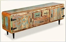 Rustic TV Cabinet - Rustic Furniture India