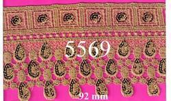 Designer And Fancy Gold Zari Lace From Fashion Plus