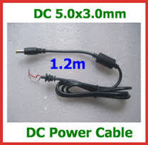 Acer Laptop Charger Black Tip DC Cable 5.0 X 3.0 Mm -1.2 Mtr