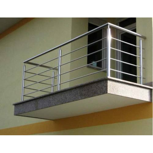 Stainless steel balcony railing indiamart id 11081343162 for Balcony steel grill design