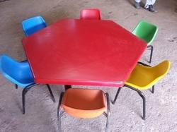 FRP Nursery Chair Table