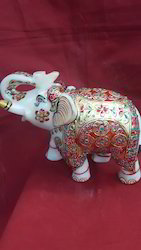Decorated Elephants Statue