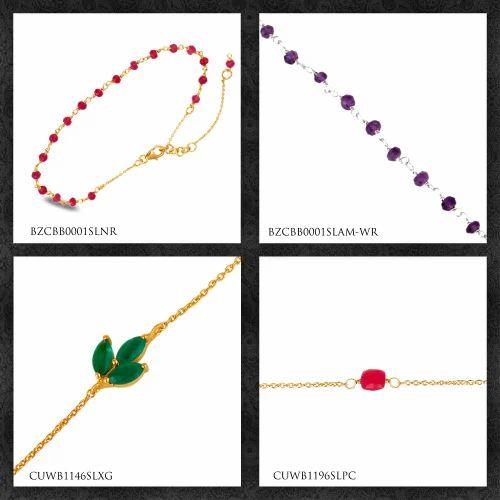 Natural Beaded Gemstone Bracelet