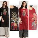Slub Silk Festive Kurta With Heavy Zari Embroidery