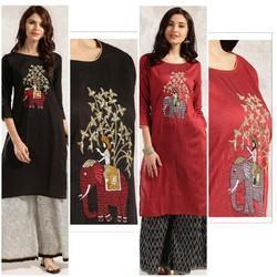 Slub Silk Festive Kurta With Heavy Zari Embroidery