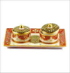 Marble Hand Painted Suppari Boxes