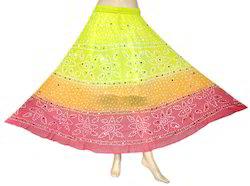 Women Bandhini Skirt
