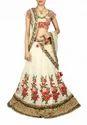 Designer Wedding Silk Cream Chaniya Choli
