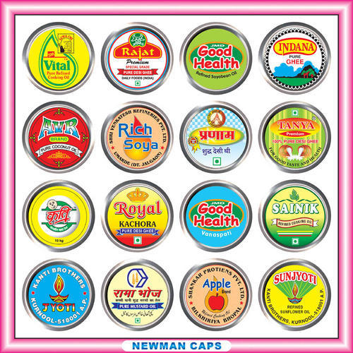 Tin Printed Canister Lids