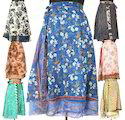 Vintage Silk Sari Magic Wrap Skirts