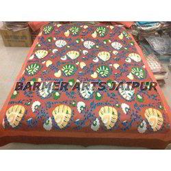 Silk Half Suzani Bed Cover