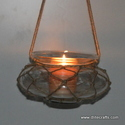 Clear Glass Decorative T Light Hanging