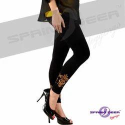 Gold Simar Printed Leggings