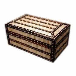 Camel Bone Inlaid Wooden Cash Box