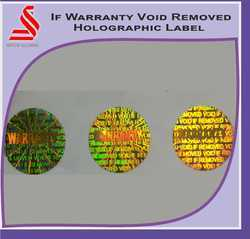 Warranty Void If Removed Security Void Hologram Label